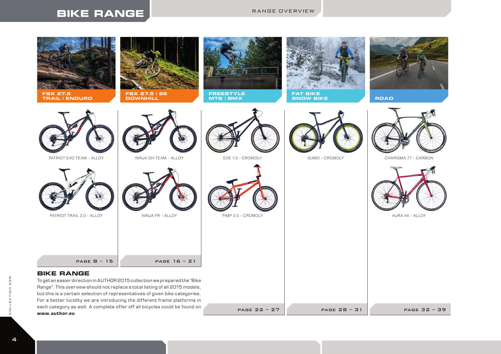 Bike range - range overview