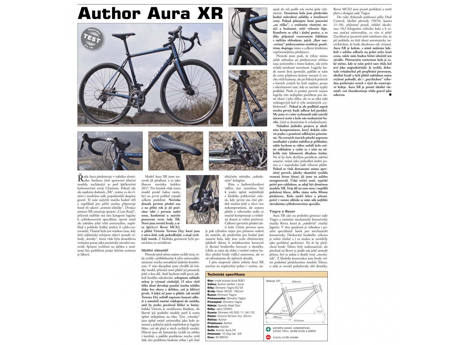 AUTHOR Aura XR 2018 - tripple butted alloy frame