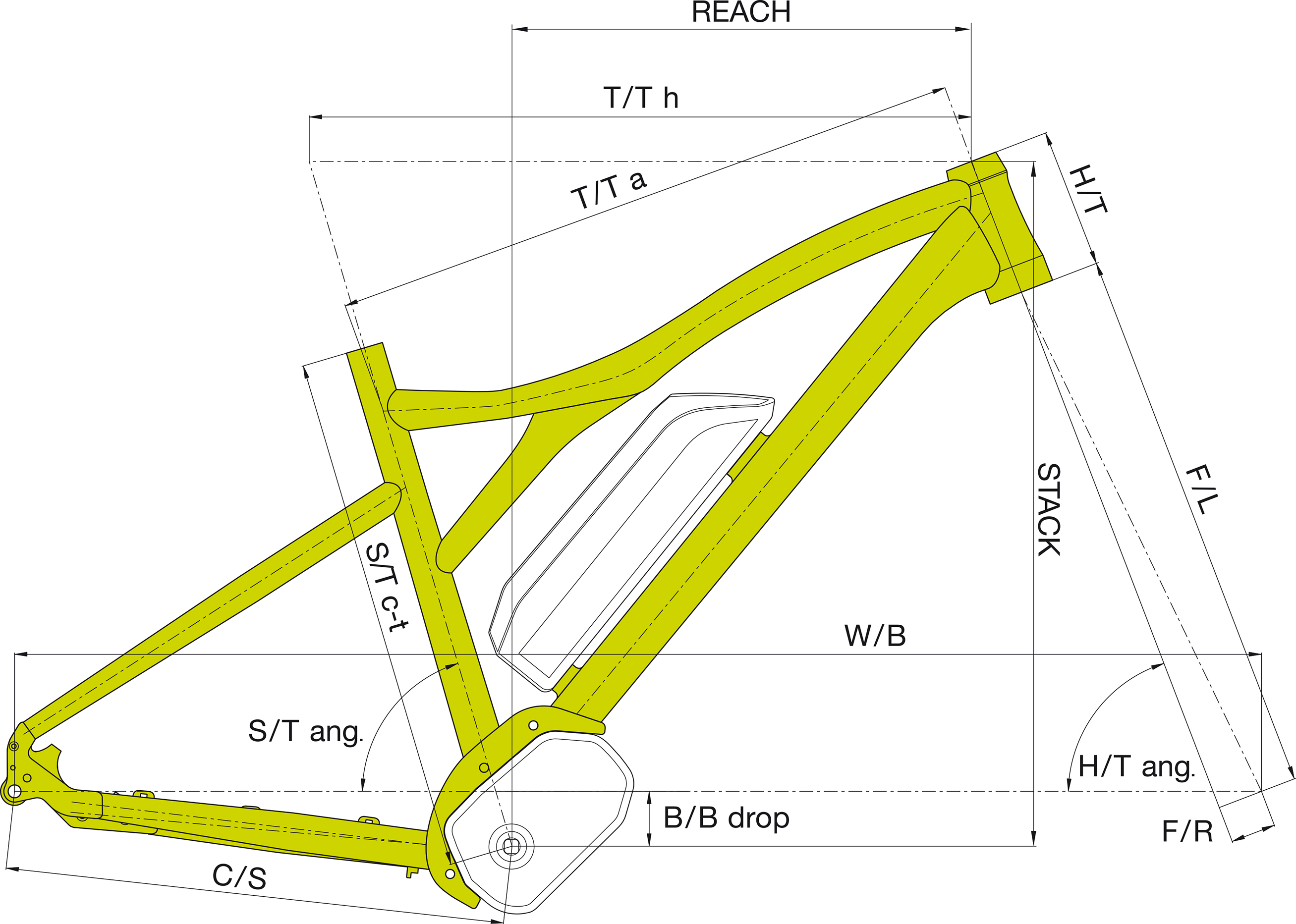 Author Engine 2019 Double Butted Alloy Frame With Hydroroformed Geo Diagram